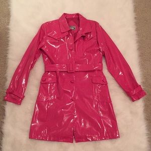 Adorable Hot Bright Pink Waterproof Raincoat, Med